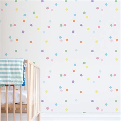 Crib Wallpaper by Confetti Print Removable Wallpaper For Nursery