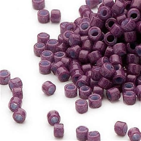 how many seed per gram seed bead delica 174 glass opaque plum db662 11