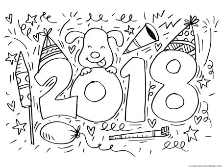 new year 2018 colouring pages new year 2018 coloring 1 1 1 1