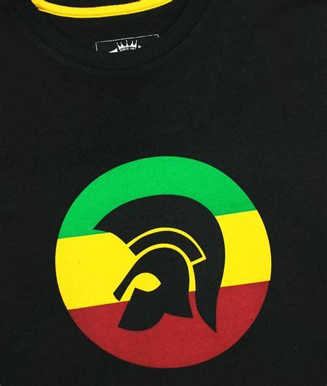 Records Jamaica Trojan Records Black Jamaican Helmet T Shirt Modfellas