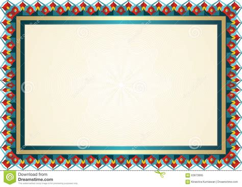 headshot border template new certificate template stock vector image 63873895