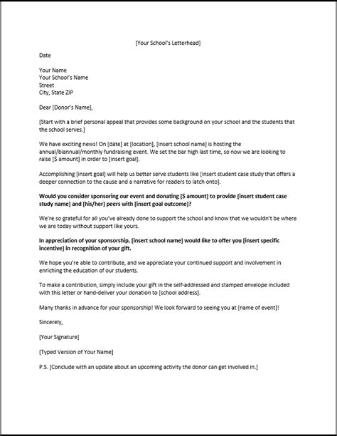 Sponsorship Letter For High School Sponsorship Letters Write Great Proposals With 12 Templates