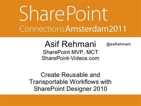 creating workflows in sharepoint designer 2010 create reusable workflows using sharepoint designer 2010