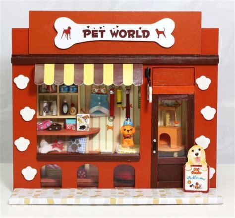 diy puppy shoo aliexpress buy diy dollhouse pet paradise mini european shops pet shop 3d