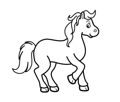 horse cartoon coloring page gif cartoon horse coloring