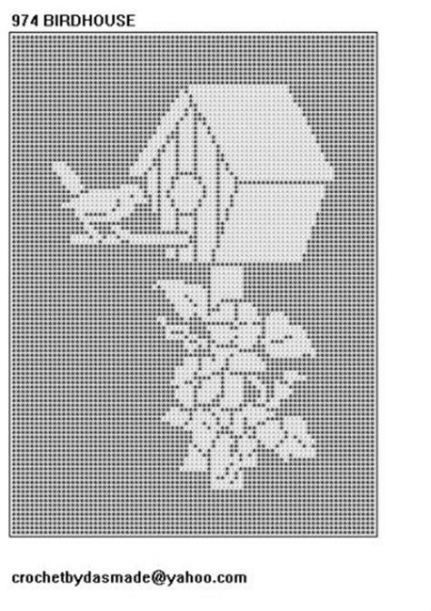 974 birdhouse filet crochet doily afghan tablecloth