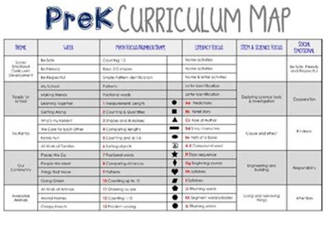 prek preschool curriculum map by prek partner tpt