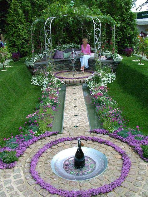 fountains backyard garden benches seats