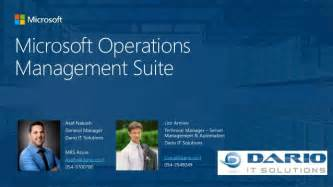 azure operations manager suite