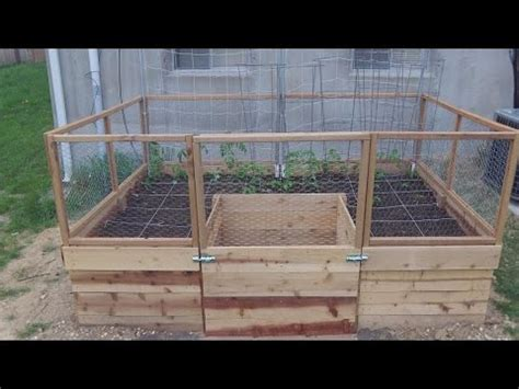 home  building   shaped raised bed part