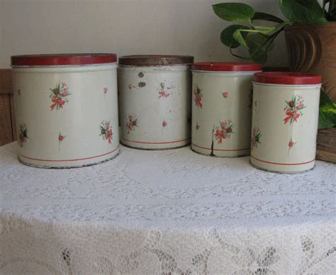 kitchen storage rustic home decor canisters by national can empeco canisters set of four 4 metal rustic