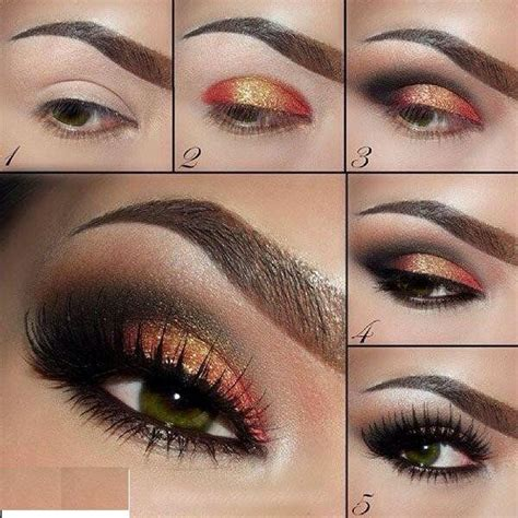 orange makeup tutorial image gallery orange smokey eye