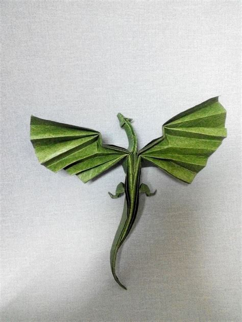 Origami Drache Faltanleitung by Origami And Drache On