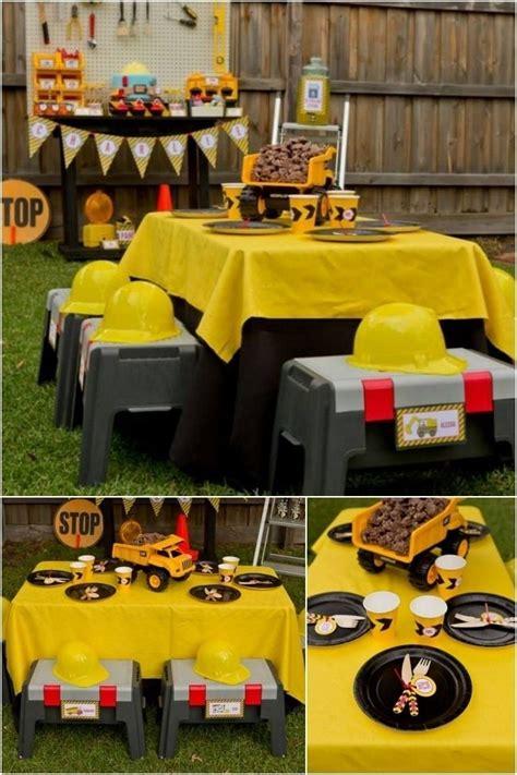 construction theme decorations best 25 boy birthday ideas on 4th
