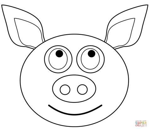 coloring pages of pig faces cartoon pig head coloring page pig face coloring pages