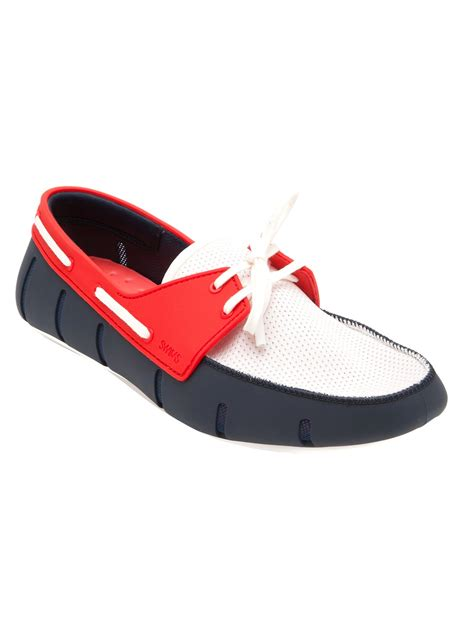 sports loafers lyst swims sport loafer in blue for