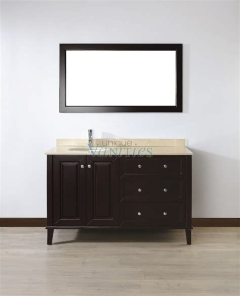 55 Inch Sink Vanity by 55 Inch Single Sink Bathroom Vanity With Choice Of Top In