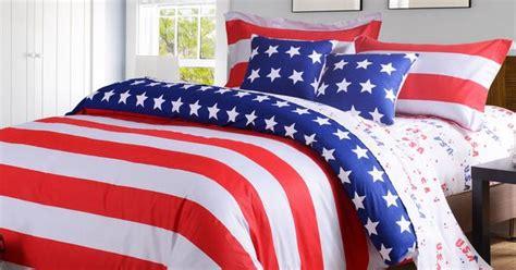 american flag usa bedding fullqueen  pc duvetcomforter cover set shamssheet houses condos