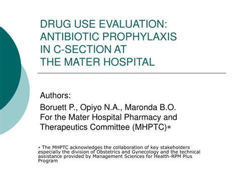 antibiotic prophylaxis for cesarean section ppt drug use evaluation antibiotic prophylaxis in c