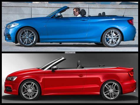 Vergleich A3 Cabrio Bmw 1er Cabrio by Cabrio Vergleich Bmw M235i Vs Audi S3 Krautdub