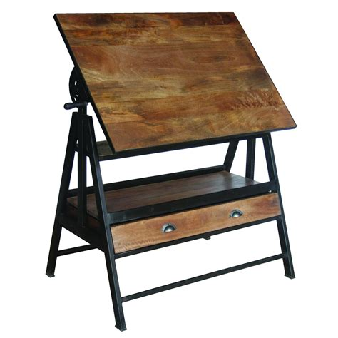 Iron Table Ls Iron Wooden Drafting Table Yfur 14 Shc35 Elite Fixtures