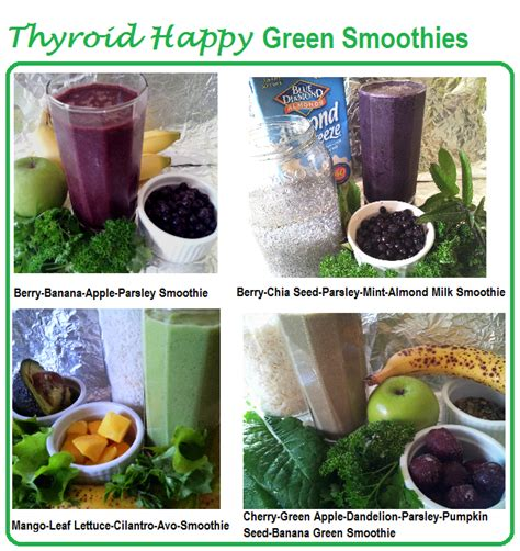 Thyroid Detox Smoothie by Smoothie Thyroid Happy Cherry Green Apple Dandelion