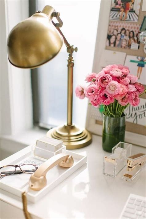 gold desk accessories office inspiration pinterest