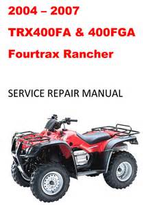 honda rancher service manual pdf book db