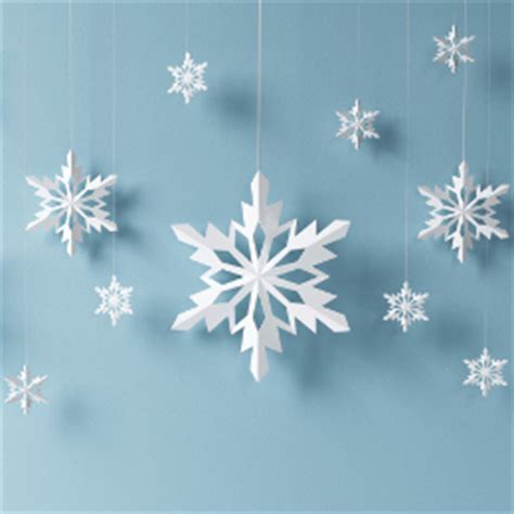 How To Make Hanging Paper Snowflakes - learn how to make a 3d paper snowflake and liven up your home