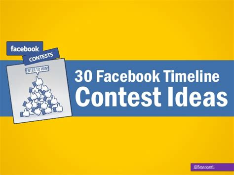 30 facebook timeline contest ideas - Giveaway Ideas For Facebook
