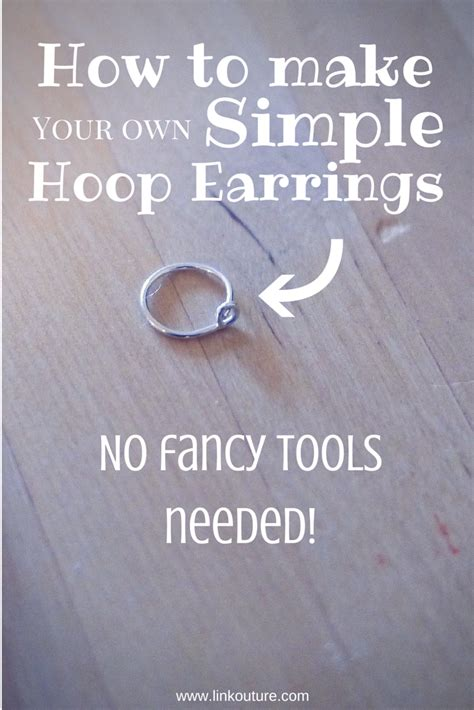 to make diy how to make your own small hoop earrings