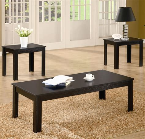 Furniture Coffee Table Set by 3 Occasional Table Set Black