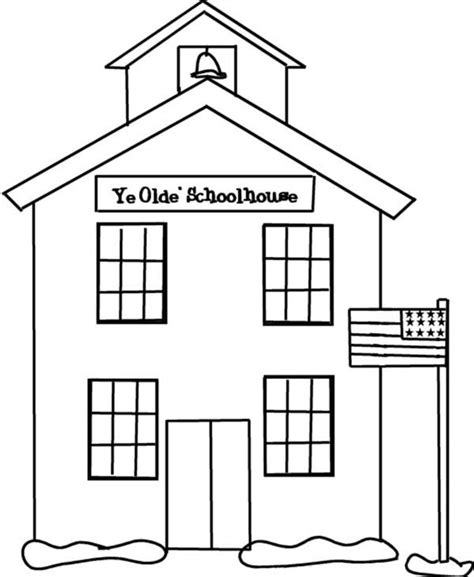 spring house coloring pages school house on spring coloring page school house on