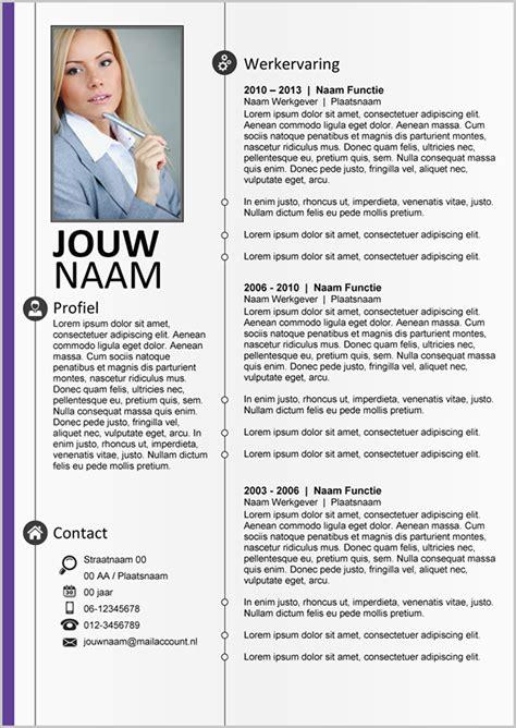 cv format word nederlands cv word template 260 on behance