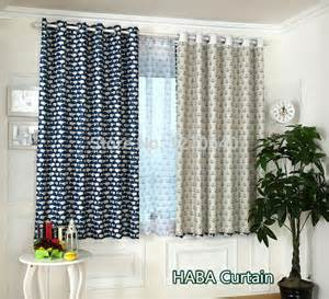 White Bamboo Curtains Aliexpress Buy High Quality Printed Blackout Curtains For Living Room White Bamboo
