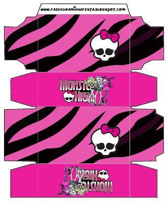 monster high party para imprimir caja geavanna monster high cajas para imprimir gratis ideas y
