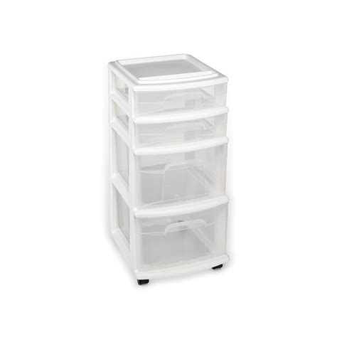 4 drawer cart with wheels seville classics 10 drawer steel organizer cart in frosted