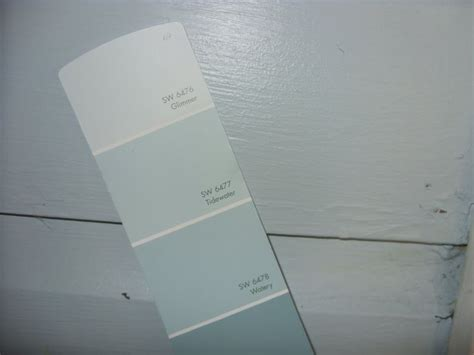 tidewater and glimmer from sherwin williams i can t wait to do these subtle striped accent