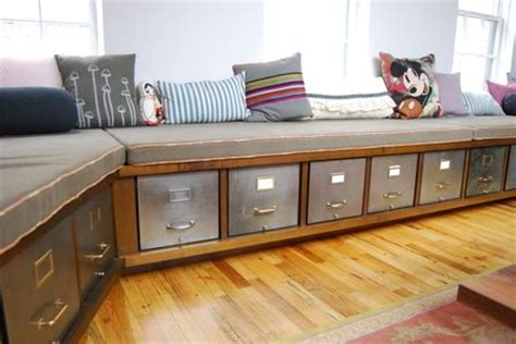 built in storage bench with drawers 17 best images about filing cabinet on