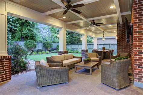 custom slipcovers houston traditional patio cover spring valley houston texas