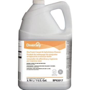 dry foam upholstery cleaner dry foam carpet and upholstery cleaner 1 gallon case of