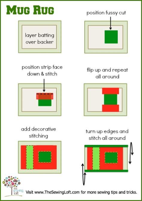 how to place a rug mug rug the sewing loft bloglovin