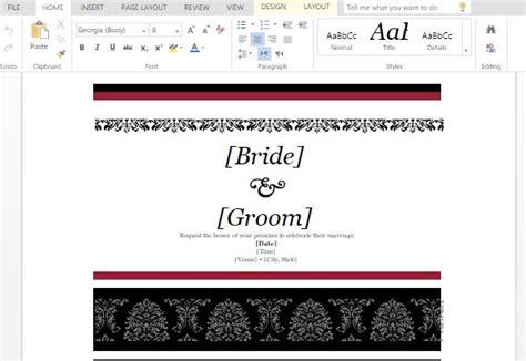 make wedding invitations in microsoft word how to create wedding invitations in ms word