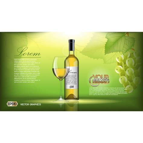 wine brochure template wine brochure template vector free