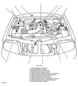 where is the maf sensor on a 2003 chevrolet tracker 2 5 v6