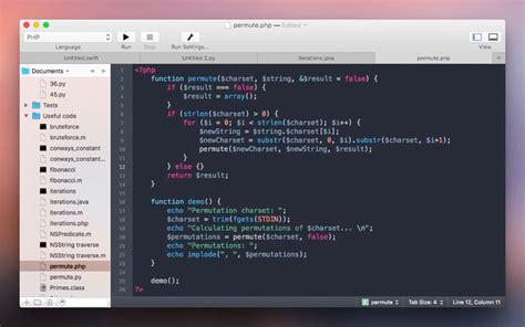 themes brackets editor coderunner programming editor for mac
