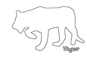 tiger template tiger outline drawing coloring home