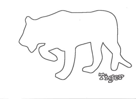 Tiger Template outline of a tiger coloring home