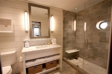 main floor bathroom ideas gray cream tan color scheme use same tile on shower