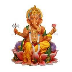 Ganesh On Lotus Ganesha On Lotus Flower Color Hindu Gods And Goddess